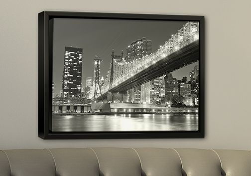 black wood framed print